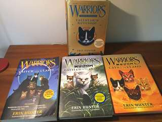Various Warriors Cats Books. English