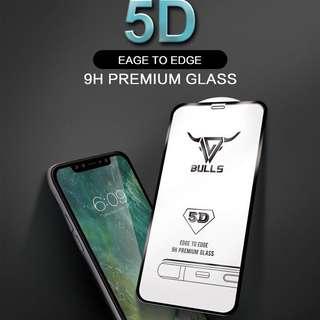 💥New Launch💥Bulls 5D Tempered Glass
