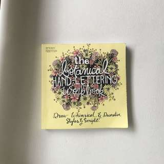 The botanical Hand-lettering Calligraphy Workbook