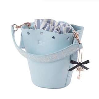 🔆預訂🔆迪士尼 disney Grace gift 愛麗絲 Alice  束繩袋 細袋  斜咩袋 水桶包 粉藍色款