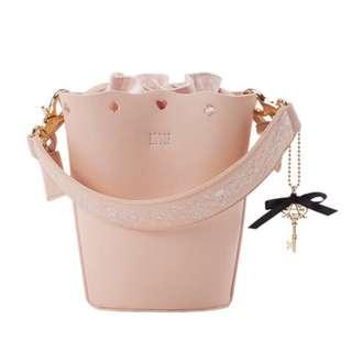 🔆預訂🔆迪士尼 disney Grace gift 愛麗絲 Alice  束繩袋 細袋  斜咩袋 水桶包 粉紅色款