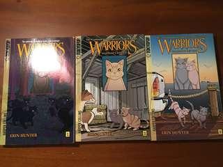 Warriors Cats Manga Book 1-3. English