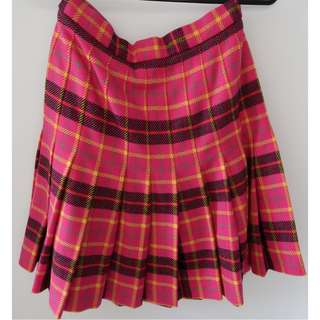 Escada Vintage Wool/Cashmere Pleated Skirt