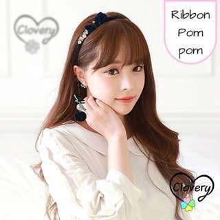 Headband pompom fake earrings Accessories