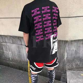 Supreme x thrasher tee in blk or white