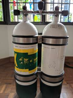 Faber 12L scuba cylinders with diverite manifold