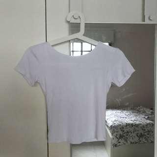 Basic White backless top