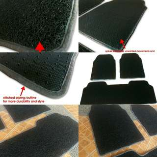 Coil type car mat spaghetti car matting car floor cober rubber matting