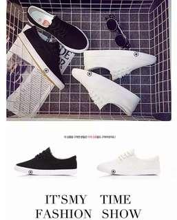 Korean Women's Fashion Simple Star Printed Soles Casual Canvas Shoe