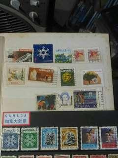 包郵 中古 加拿大郵票 18個