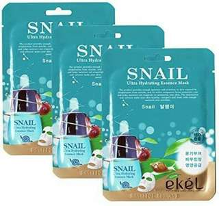 EKEL ULTRA HYDRATING FACE MASK IN SNAIL (ON HAND)