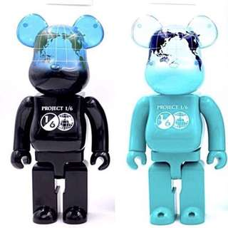 Bearbrick 400% Earth Series Project 1/6