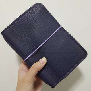 Foxyfix No 2/Pocket/Field Note size Couture Compact Moccasin Amethyst leather notebook cover