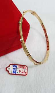 18k 2tone Cartier Bangle small size