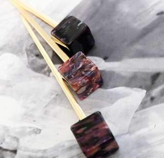 Marble Swirl Cocktail Pin Cup Stirrer Skewer Hair