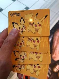 Pikachu + Pichu EZ-Link card