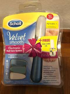 School velvet smooth electronic nail care system