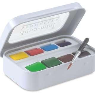 SENNELIER L'Aquarelle French Artists' Watercolor 1/2 Pan Aqua Mini Travel Box Set x 8