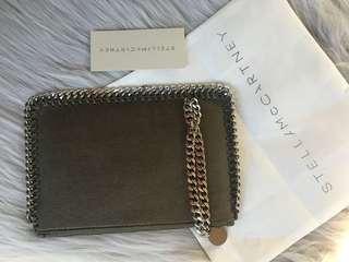 Stella McCartney suede zip purse