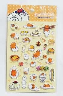 全新品韓國 購回  Sanrio 限定版系列 可愛蛋黃哥 立體 貼紙 一張 ST-3
