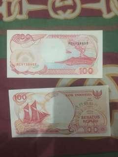 Jual uang kertas 100 NKRI