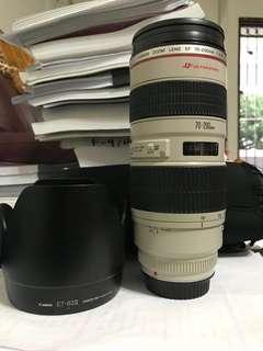 Canon EF 70-200 f2.8 (non is)