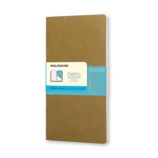 BN Moleskine Chapters Collection - Slim Large Dotted Journal Tawny Olive Green Notebook