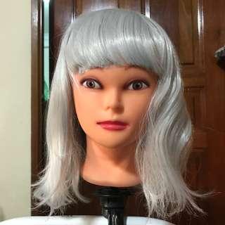 Silver grey wig