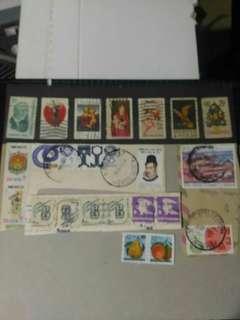 包郵 1970-198x年 美國 墨西哥郵票 共 22個