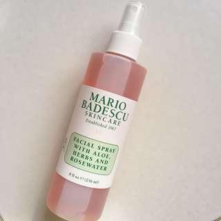 Mario Badescu facial spray aloe herbs and rosewater
