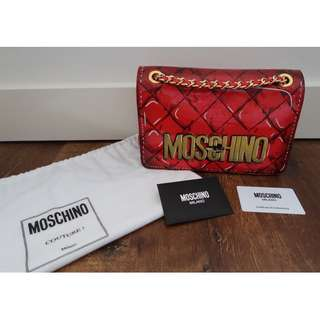 Moschino Patent Leather Crossbody Bag