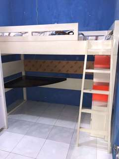 Loft Bed with Table & Drawer