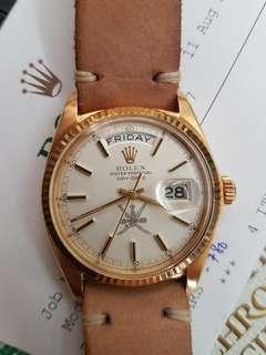 Rare Rolex Oman dial !!! Rolex Day Date President 18k Watch 1803