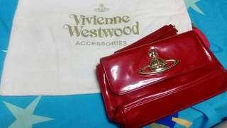 🈹(100%real) Vivienne Westwood 紅色漆皮袋