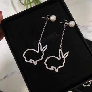 [Promotion] Buy 2 at $60. Sliver rabbit earrings ear studs