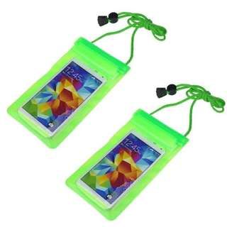 Water Proof Bag for Smart Phone Set of 2 (Green)