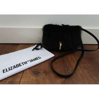 Elizabeth & James Shearling Crossbody Bag