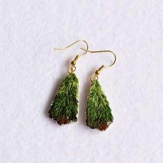 Handmade Fir Trees Drop Earrings