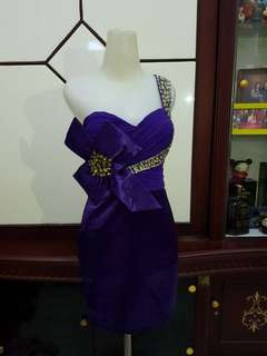 Preloved Purple party Dress import