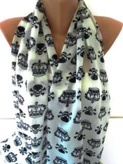 Police Skull with Wings Scarf for Ladies