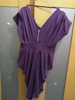 Mini dress warna ungu