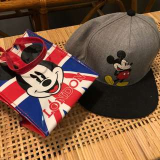 Mickey Mouse adult cap with free disney bag