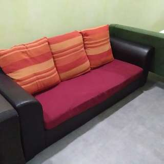3 seater sofa RED