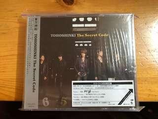 東方神起 The secret code 台版初回限定盤 2CD+DVD+特別收錄 (全新未開)