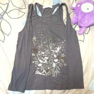 🚚 001 日本購入 正品 日牌 H.A.K hak 浮世繪裸女刺繡圖假兩件式純棉背心罩衫