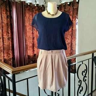 Blue&Khaki Dress