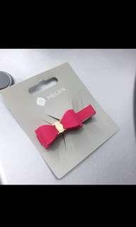 Helen pink ribbon hair clip