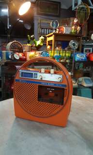 Vintage Cassette Player Radio