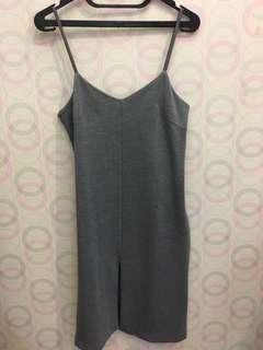 Grey cutout dress