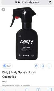 Lush - dirty spray